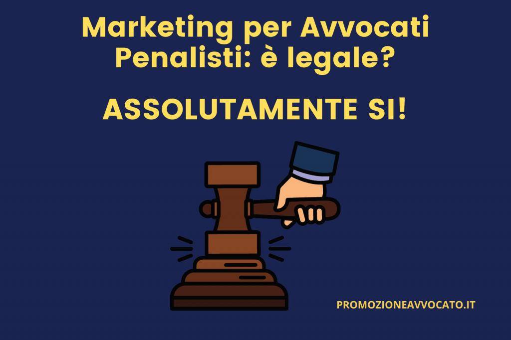 marketing per avvocati penalisti legale